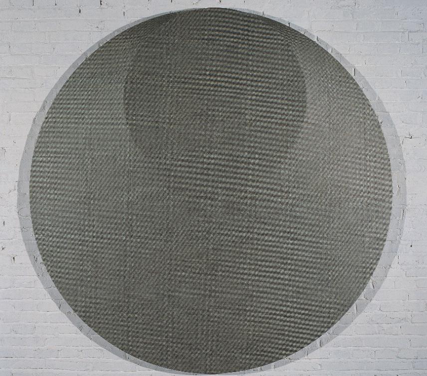 Liu Wentao 刘文涛, Untitled 无题, 2008, Pencil drawing on canvas 布面铅笔素描, Dia 200 cm