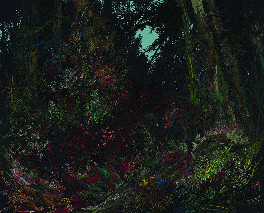 Zhou Fan 周范, Wetland II 滩涂 2, 2012, Acrylic on canvas 布面丙烯, 160 x 200 cm