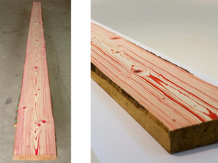 Yang Xinguang 杨心广, Growth Ring 2 年轮2, Wood 木材, 386 x 23 x 5 cm