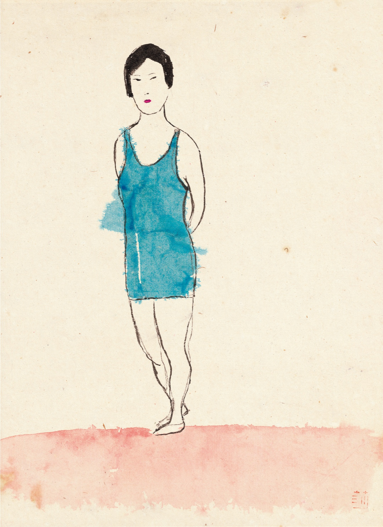 Wang Mengsha 王濛莎, Flowing Time 新似水年华系列, 2011, Chinese ink and color on paper 纸本水墨设色, 30 x 48 cm