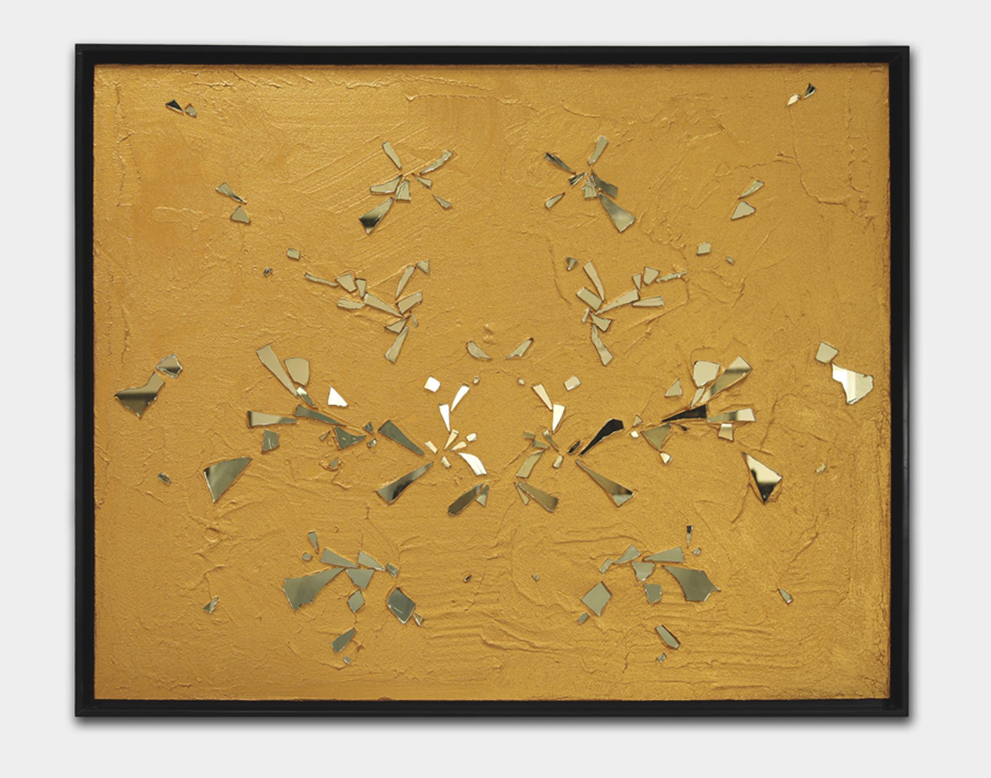 Gao Weigang 高伟刚, Vice 恶习, 2013, Acrylic on canvas and mirror 布面丙烯、镜子, 120 x 150 cm
