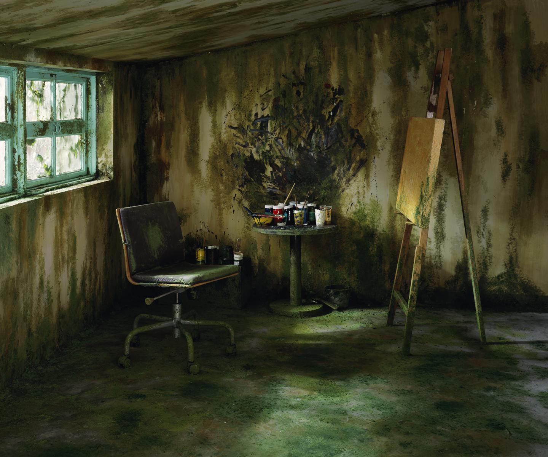 Chen Wei 陈维, Mossy Room , 2011, Archival inkjet print 收藏级艺术微喷, 150 x 180 cm