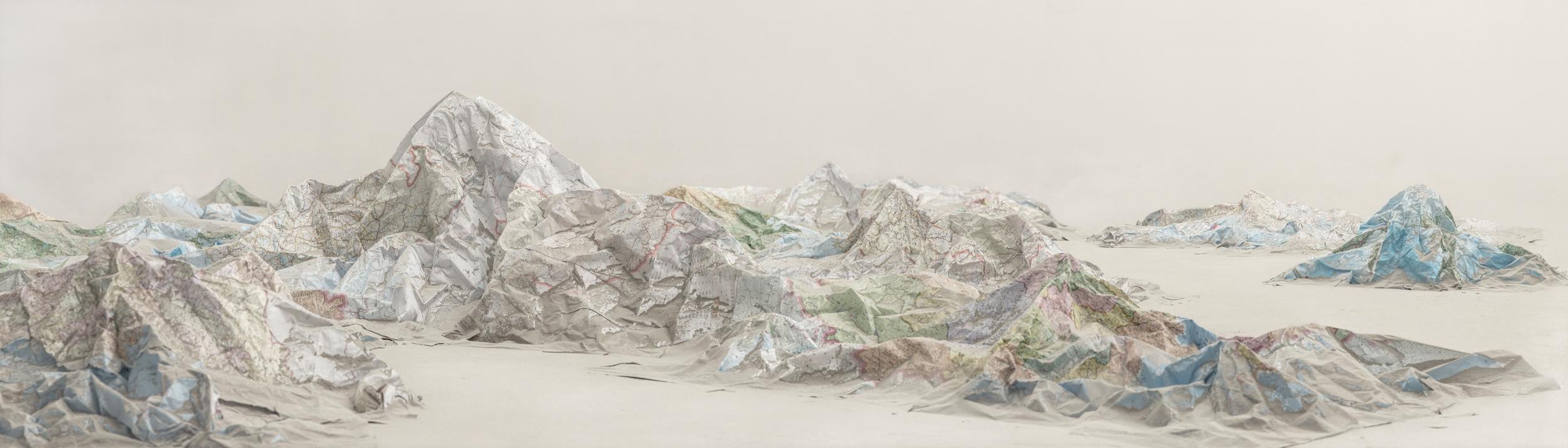 Ji Zhou 计洲, Map No.1 地图之一, 2013, Ultra Giclee 艺术微喷, 85 x 300 cm, Ed of 8