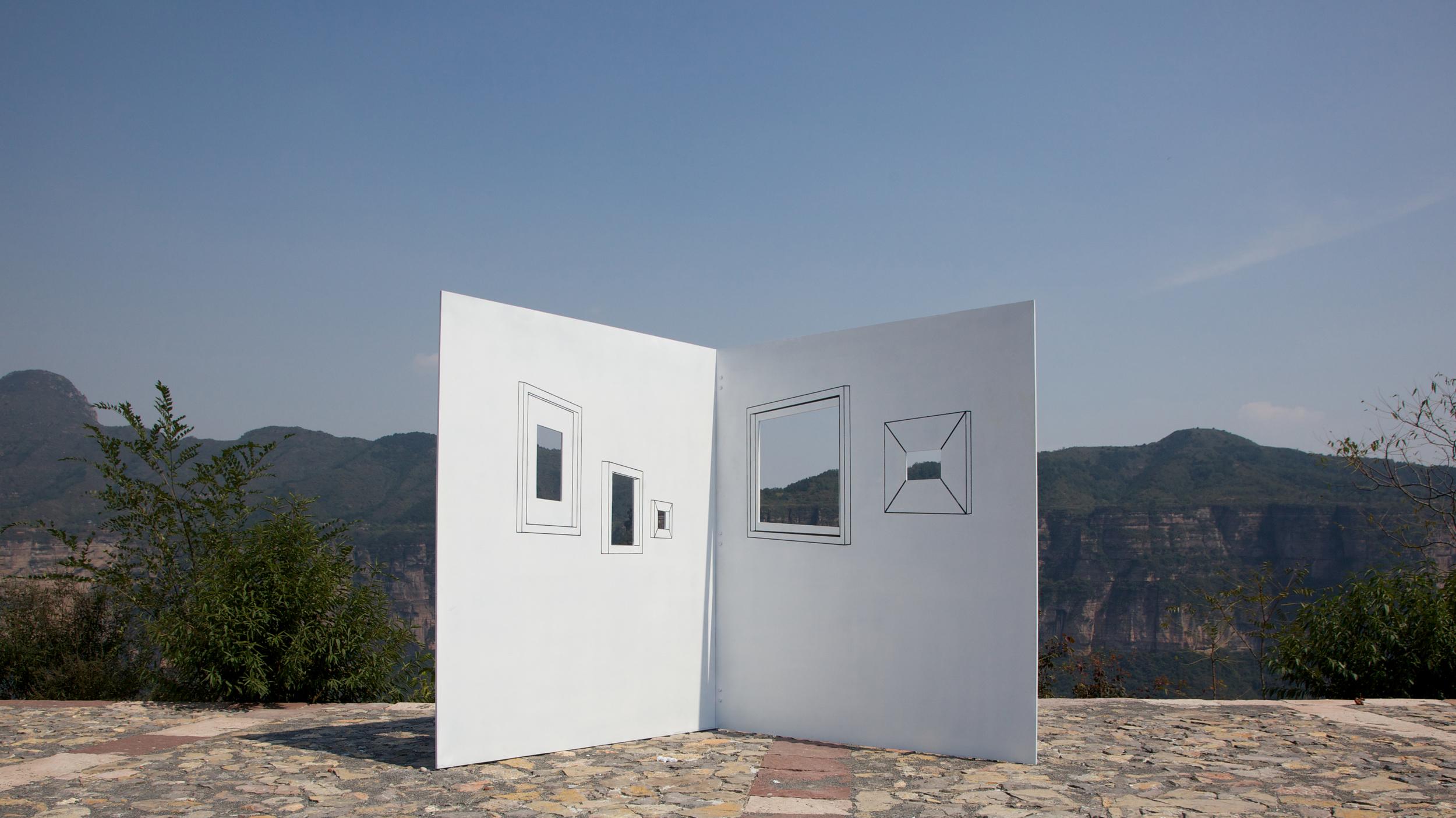 Ji Zhou 计洲, View on the Wall 墙上的风景, 2011, Installation view