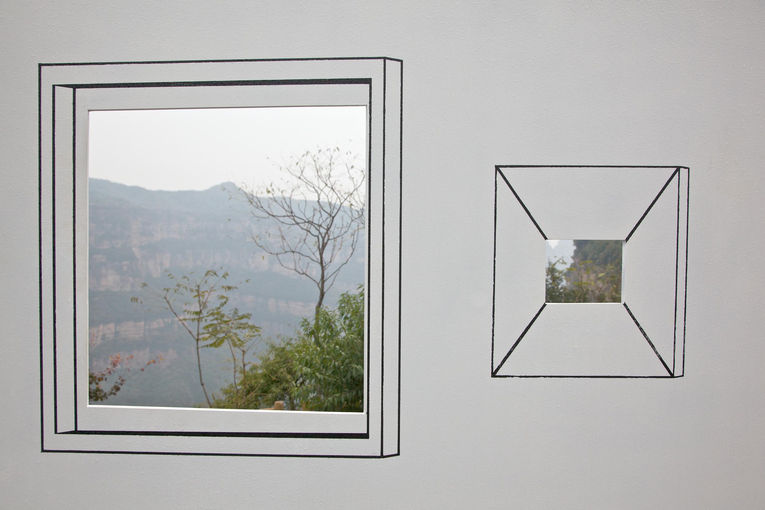 Ji Zhou 计洲, View on the Wall 墙上的风景, 2011, Installation view detail