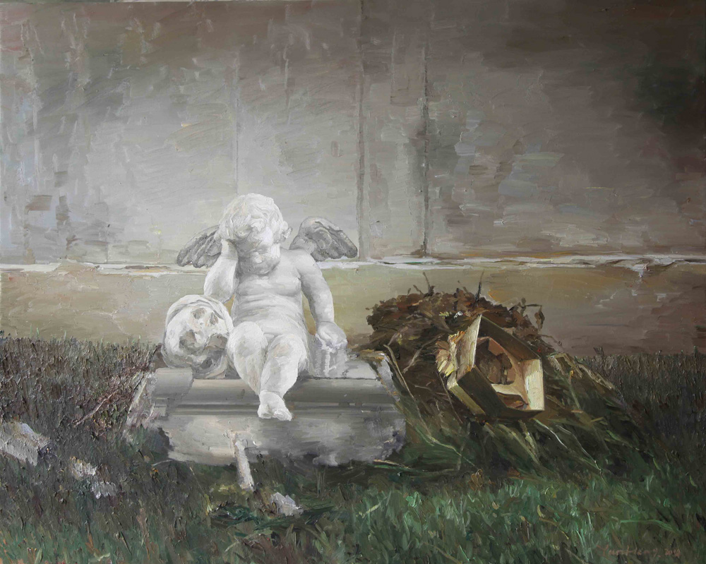 Yan Heng 闫珩, Ulcer 溃疡, 2014, Oil on canvas 布面油画, 120 x 150 cm