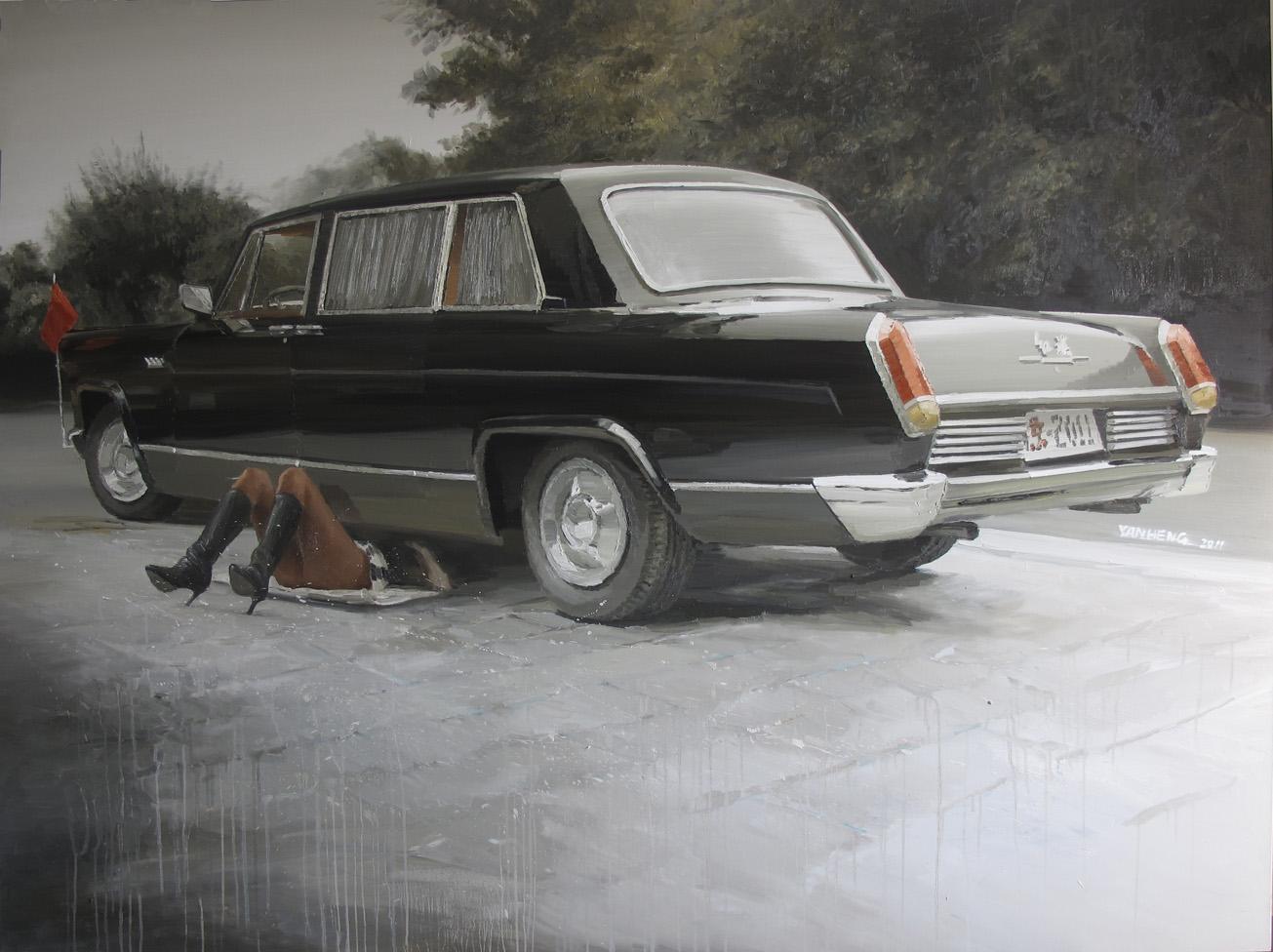 Yan Heng 闫珩, Misplaced Joke 错位的玩笑, 2011, Oil on canvas 布面油画, 200 x 150 cm