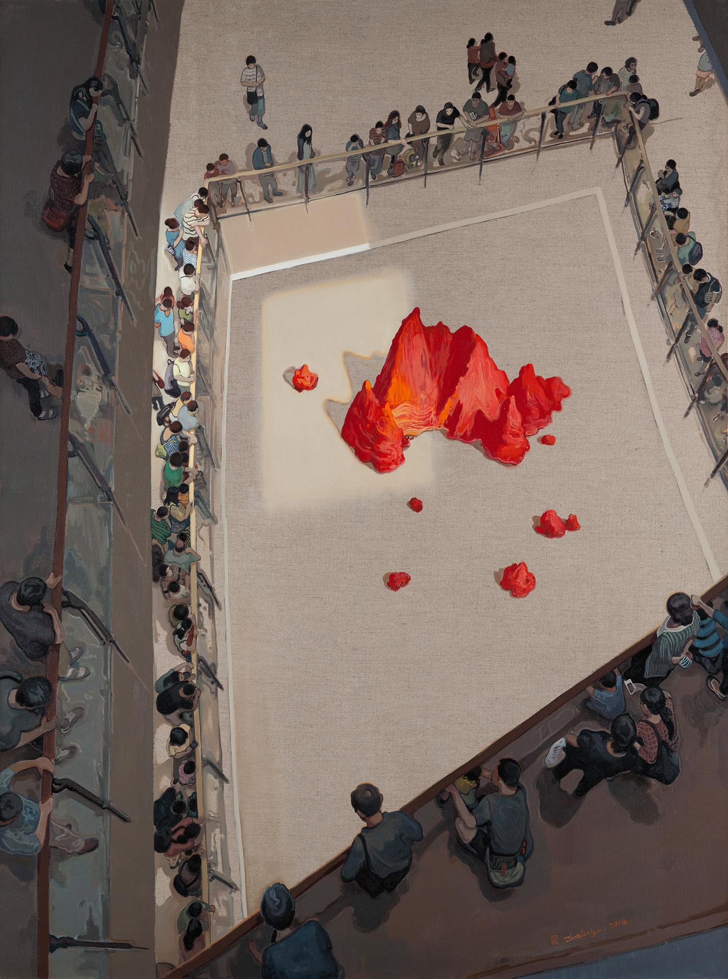 Zhou Jinhua 周金华, The Scenery of the City No.4 城市中的风景 No.4, 2014, Oil on Canvas 布面油画, 200 x 150 cm