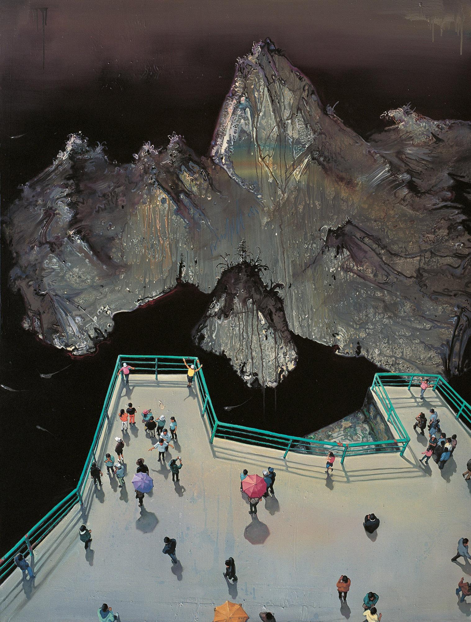 Zhou Jinhua 周金华, Viewing Platform 大看台, 2010, Oil on canvas 布面油画, 190 x 145 cm