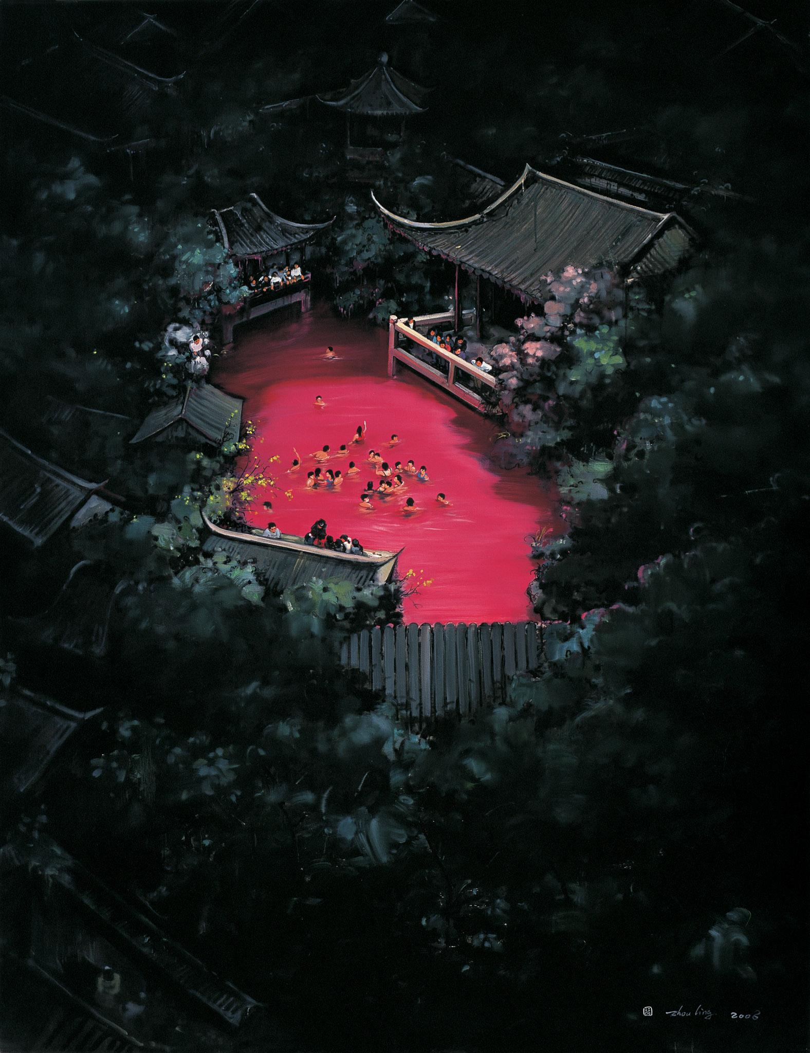 Zhou Jinhua 周金华, Golden Age No.2 黄金时代 No.2, 2008, Oil on canvas 布面油画, 190 x 145 cm