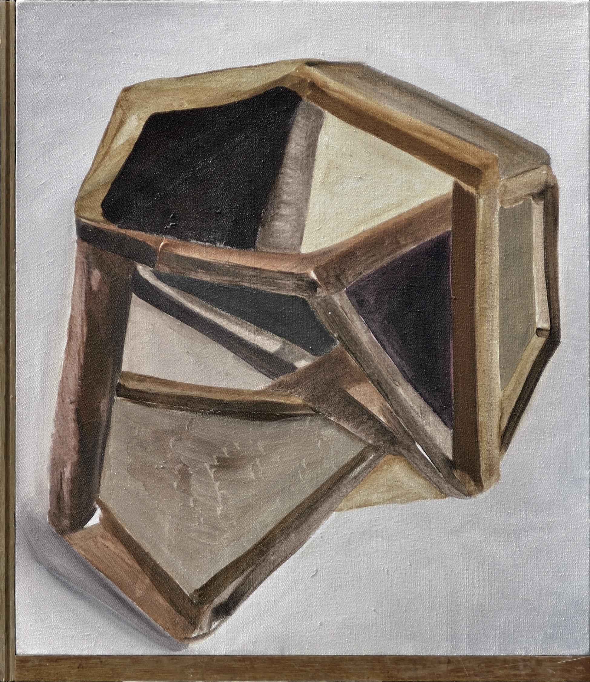 Chen Yujun 陈彧君, A State of Similarity 5566 相似物5566, 2014, Acrylic on canvas, wooden floor 布面丙烯, 木地板, 83.5 x 72 cm