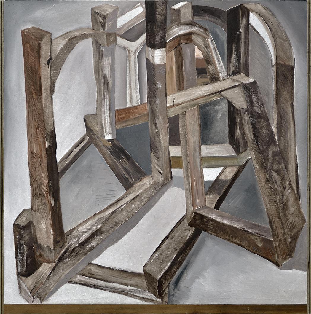 Chen Yujun 陈彧君, Crooked House No.141211 错屋No.141211, 2014, Acrylic on canvas 布面丙烯, 150 x 150 cm