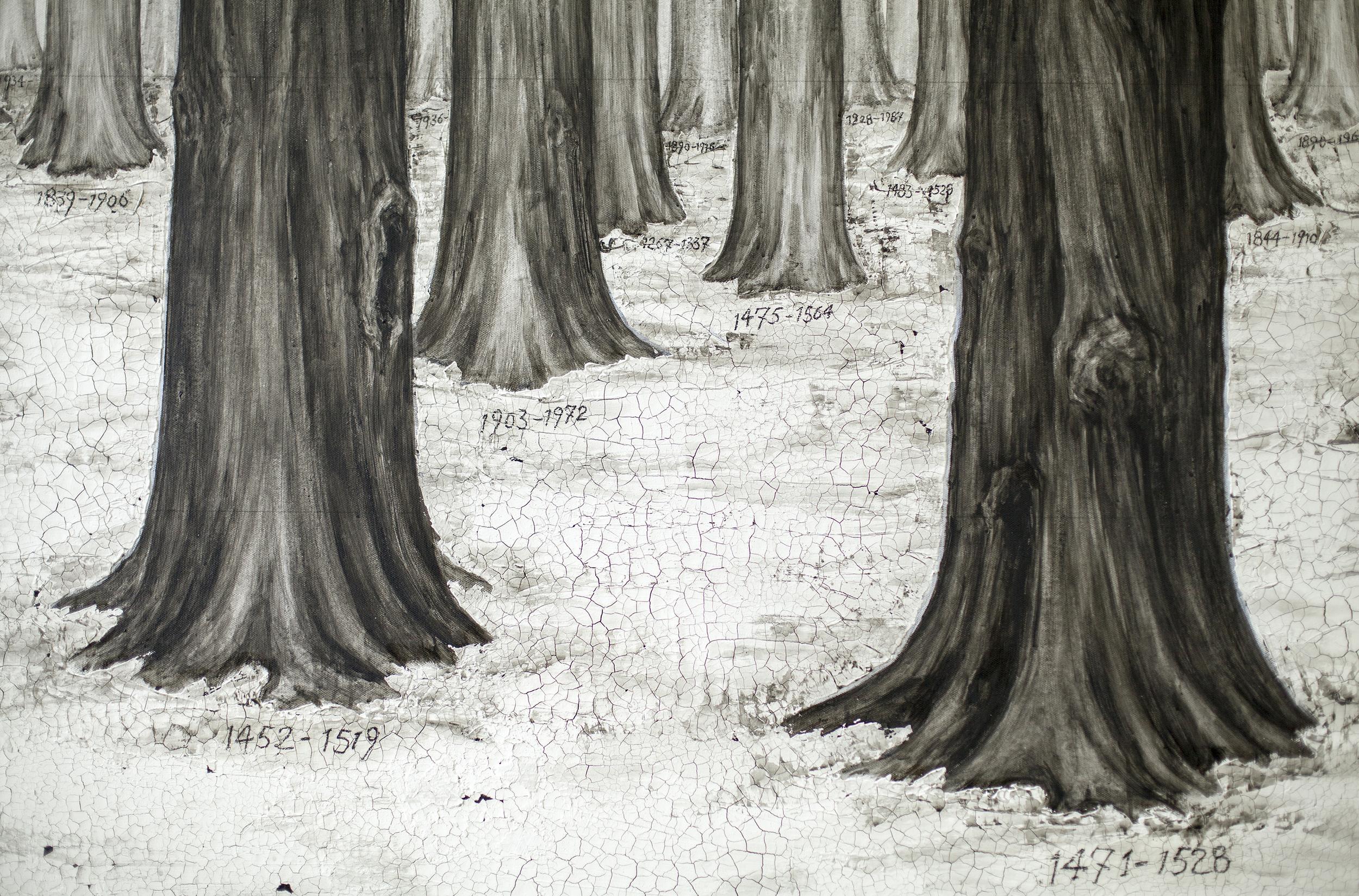 Ni Youyu 倪有鱼,Forest No.2 丛林2, 2014 (Detail 局部)