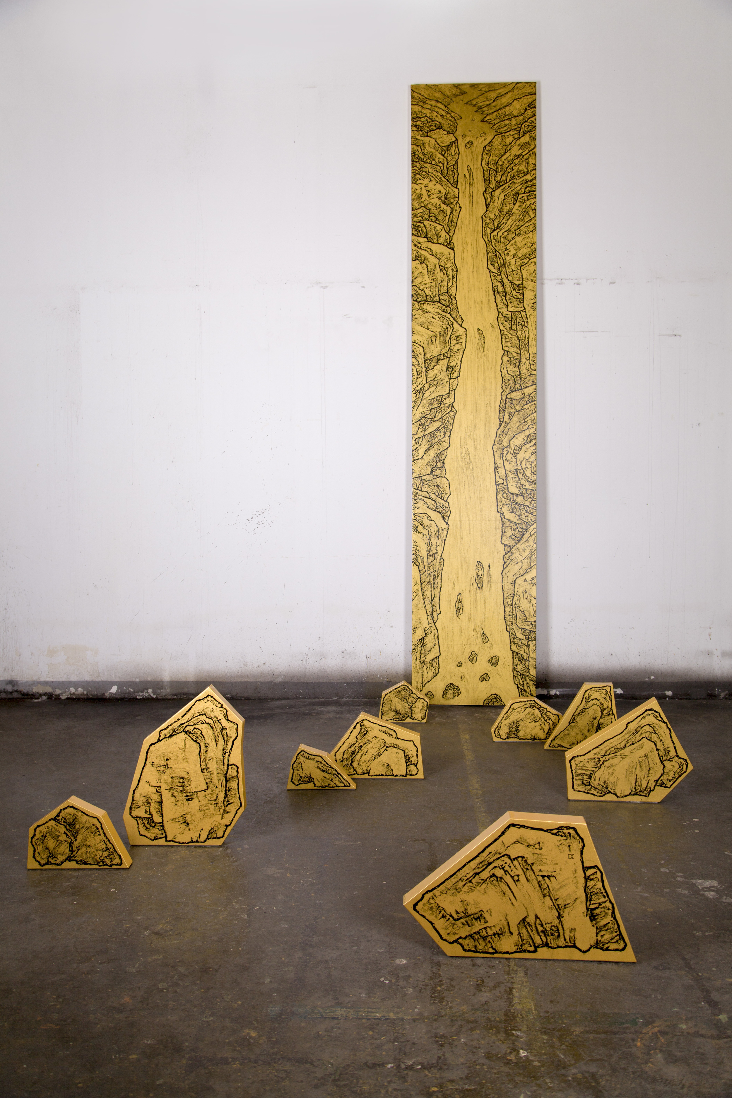 Ni Youyu 倪有鱼, Big Waterfall No.3 大瀑布3, 2012, Acrylic on canvas 布面丙烯,  350 x 500 x 350 cm