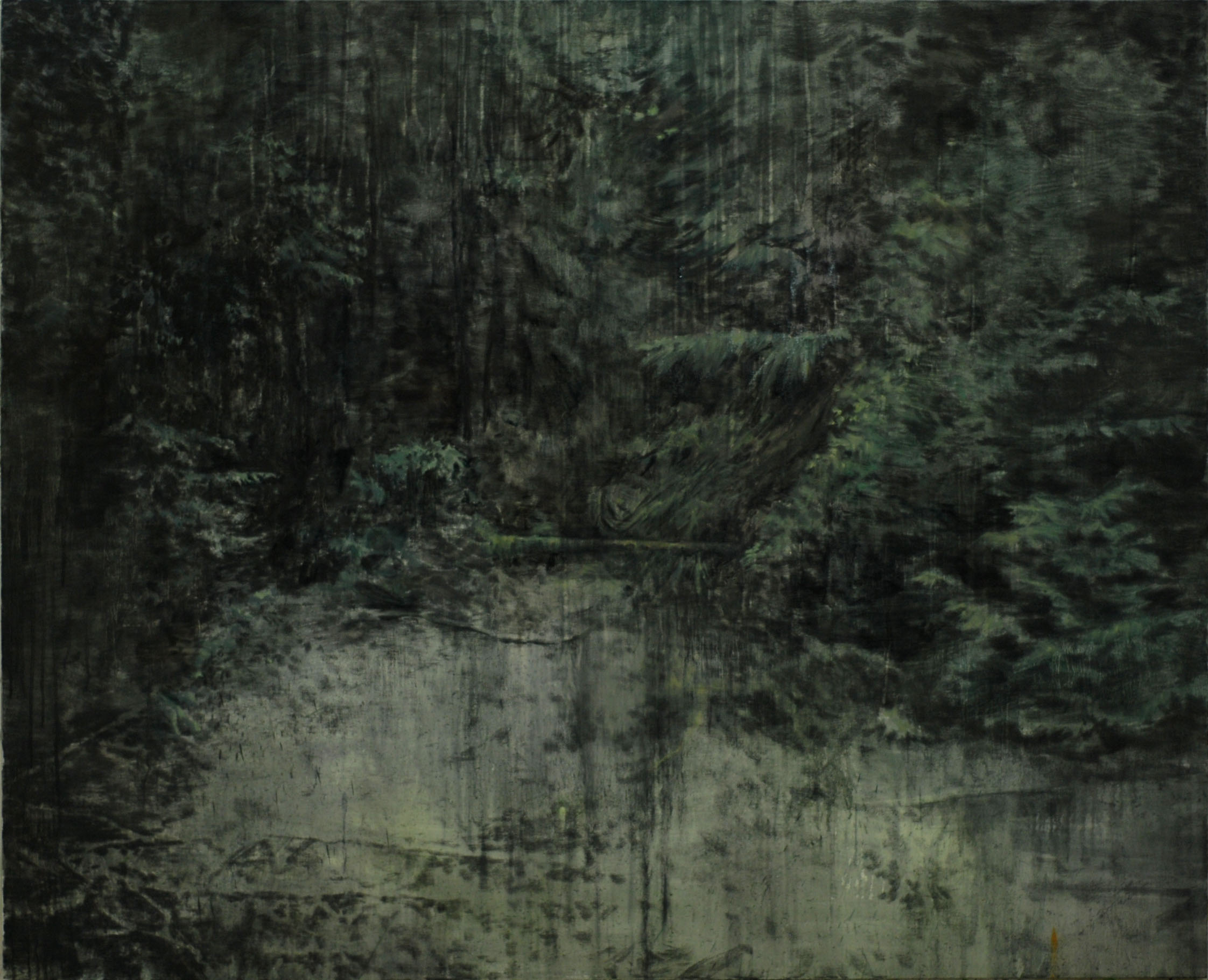 Lu Song 吕松, The Secret Spot, 2011, Oil on canvas 布面油画, 160 x 130 cm