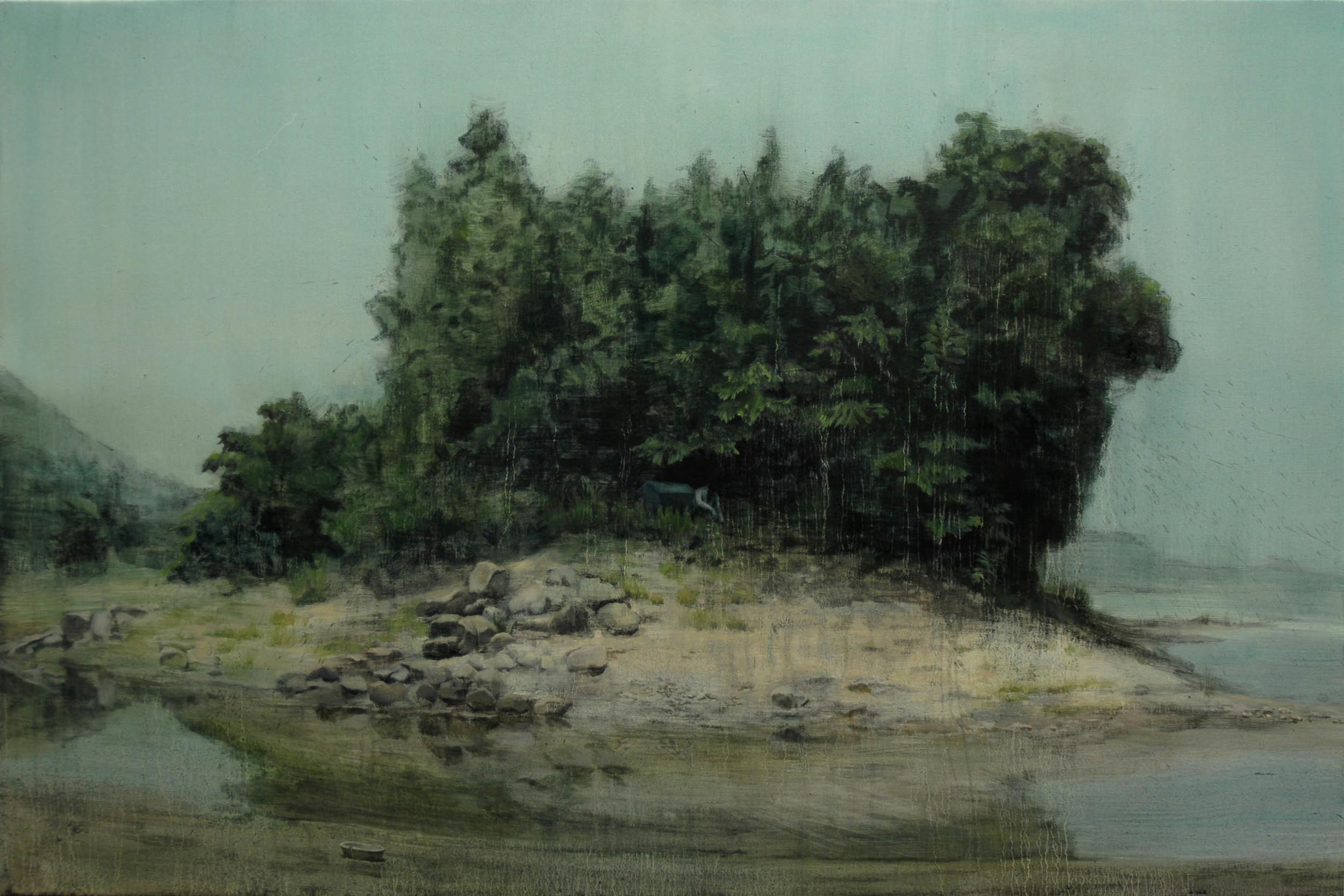 Lu Song 吕松, Sense of Security 安全感, 2011, Oil on canvas 布面油画, 100 x 150 cm