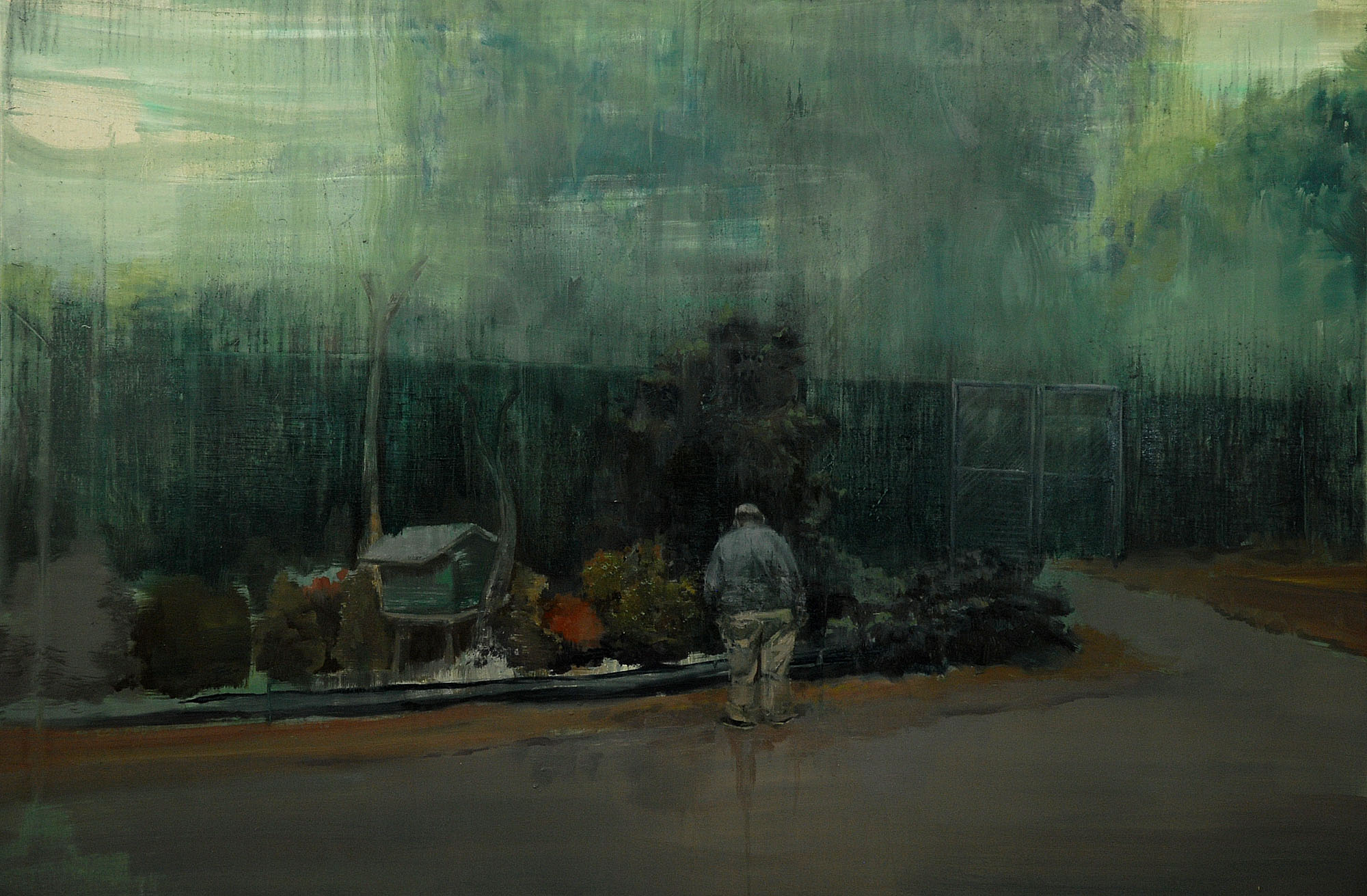 Lu Song 吕松, Home From Home, 2013, Oil on canvas 布面油画, 100 x 150 cm