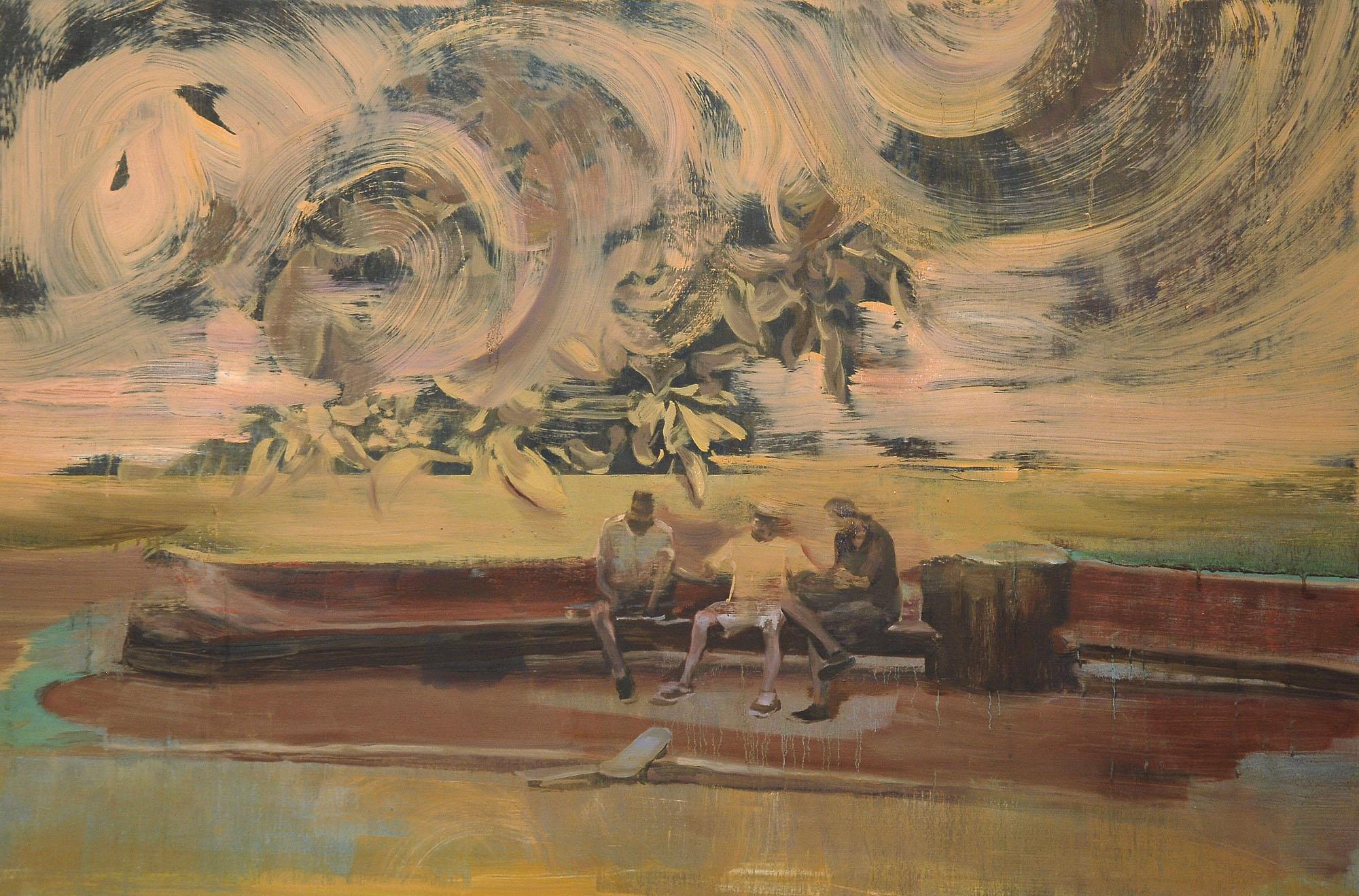 Lu Song 吕松, Dogtown z-boys 狗镇少年, 2014, Oil on canvas 布面油画, 100 x 150 cm