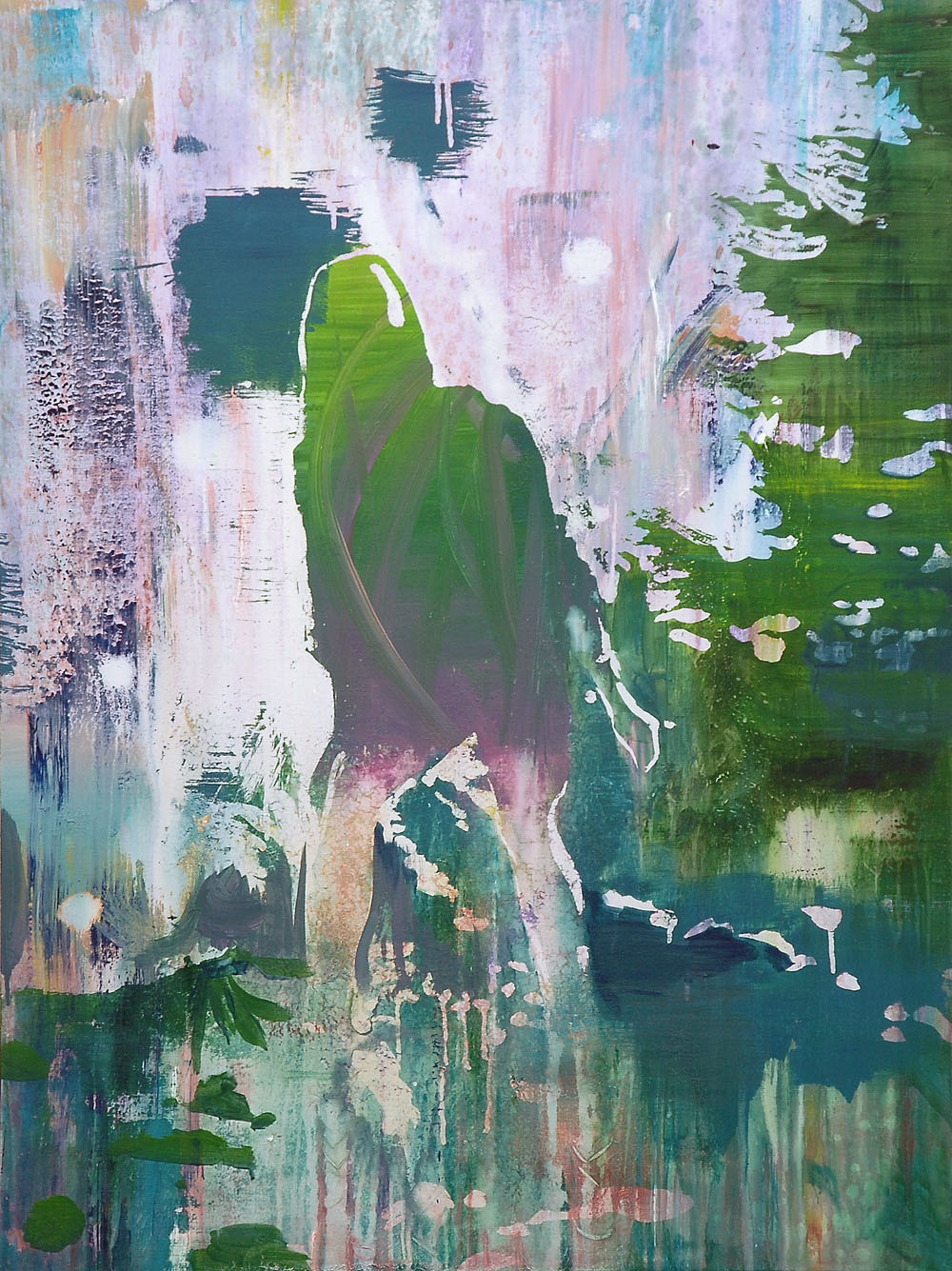 Lu Song 吕松, Girl in Jungle 丛林中的女孩, 2015, Oil on canvas 布面油画, 120 x 90 cm