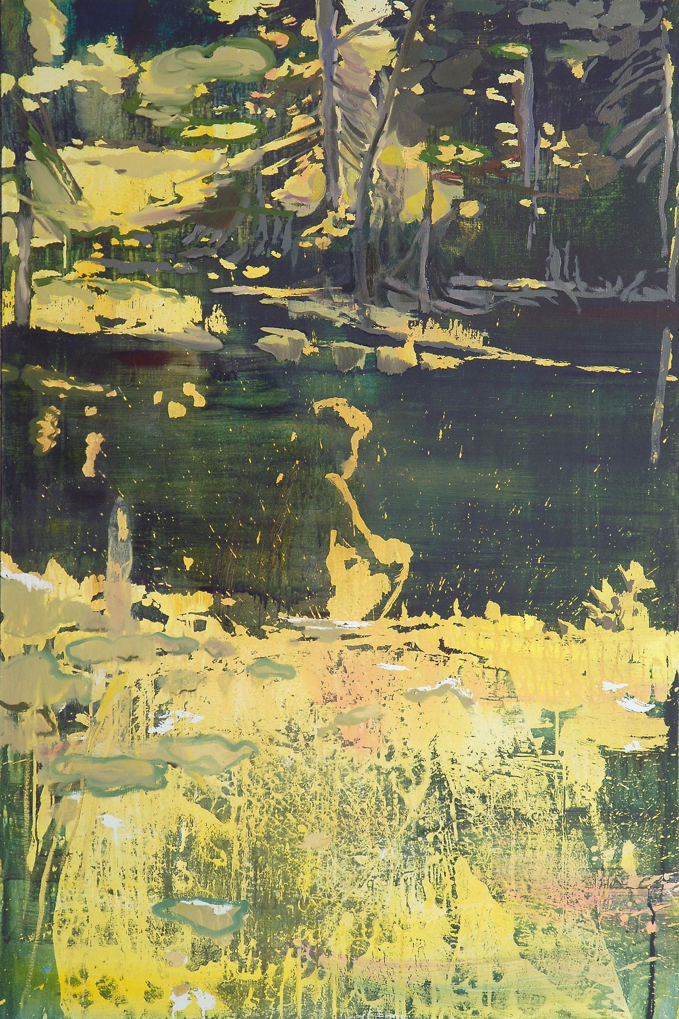 Lu Song 吕松, Hermit by the Pond 湖畔隐士, 2015, Oil on canvas 布面油画, 100 x 150 cm