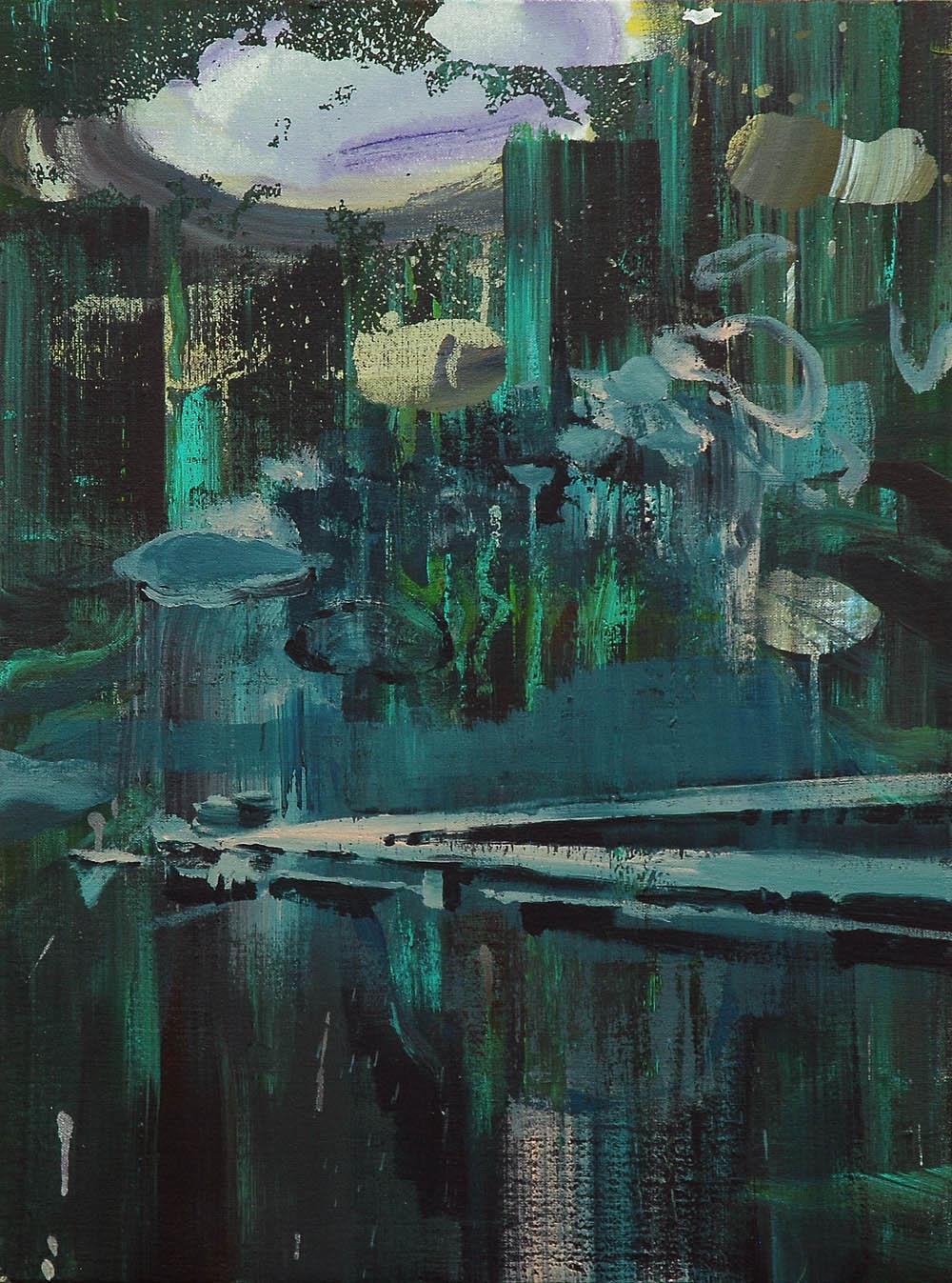 Lu Song 吕松, Empty Dock 空码头, 2015, Oil on canvas 布面油画, 60 x 80 cm