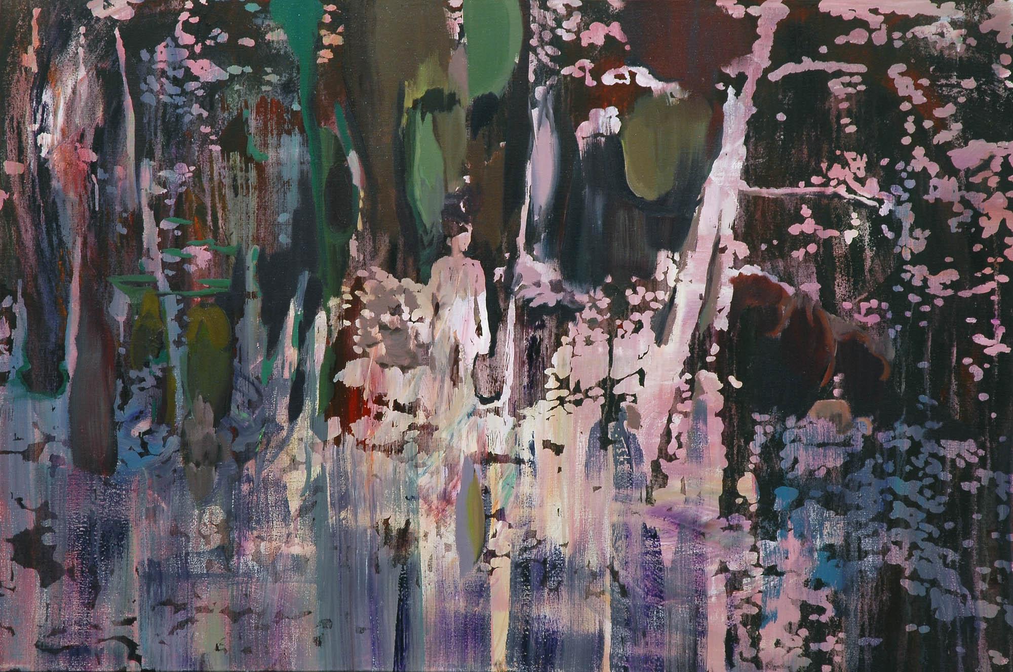 Lu Song 吕松, By the Feet of Aboriginal 跟随猎人的脚步, 2015, Oil on canvas 布面油画, 110 x 80 cm