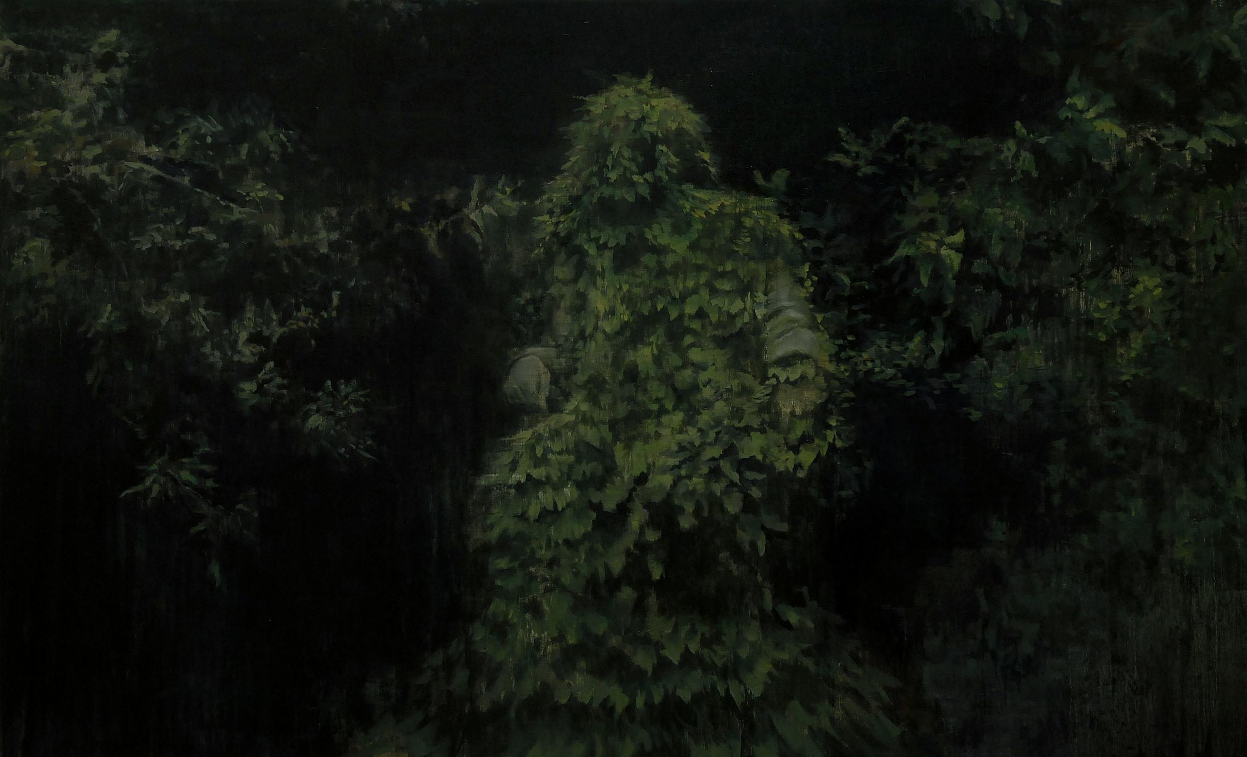 Lu Song 吕松, Overgrowth, 2012, Oil on canvas 布面油画, 210 x 130 cm