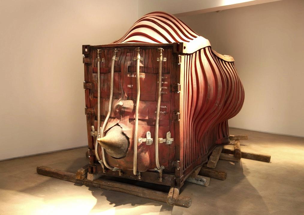 Li Hui 李晖, Dissociative Truth 不确定的真相, 2011-2015, Stainless Steel 不锈钢, 450 x 190 x 210 cm