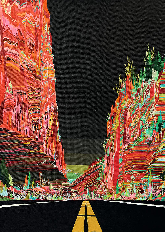 Zhou Fan 周范, Landscape 01:39 风景 01:39, 2015, Acrylic on canvas 布面丙烯, 70 x 51 cm