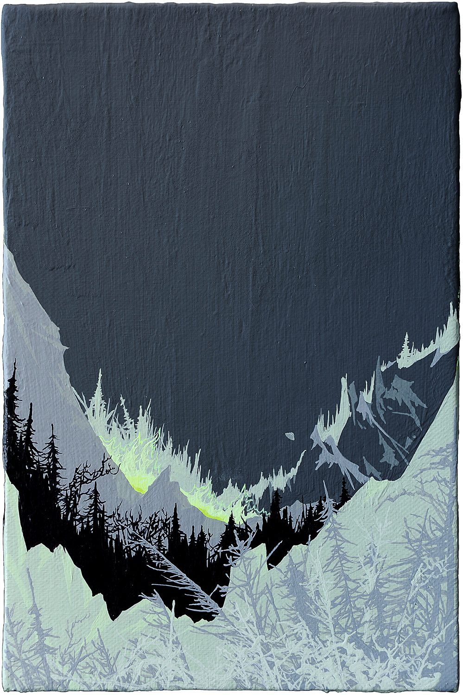 Zhou Fan 周范, Landscape 00:43 风景 00:43, 2015, Acrylic on canvas 布面丙烯, 30 x 20 cm