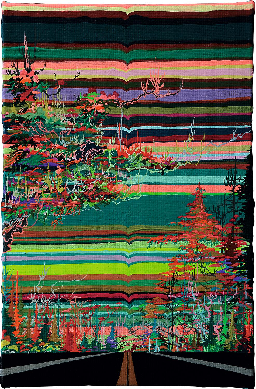 Zhou Fan 周范, Landscape 21:50 风景 21:50, 2015, Acrylic on canvas 布面丙烯, 30 x 20 cm