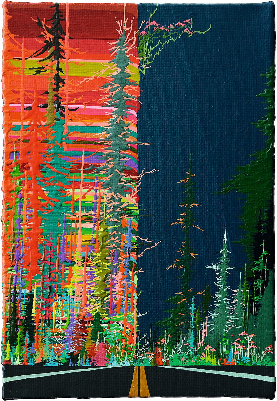 Zhou Fan 周范, Landscape 20:18 风景 20:18, 2015, Acrylic on canvas 布面丙烯, 30 x 20 cm
