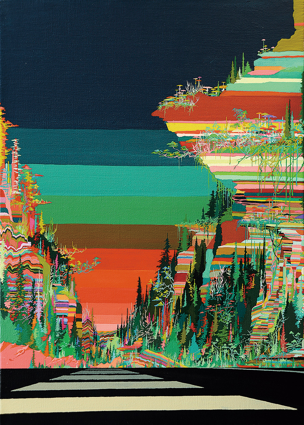 Zhou Fan 周范, Landscape 01:50 风景 01:50, 2015, Acrylic on canvas 布面丙烯, 70 x 51 cm