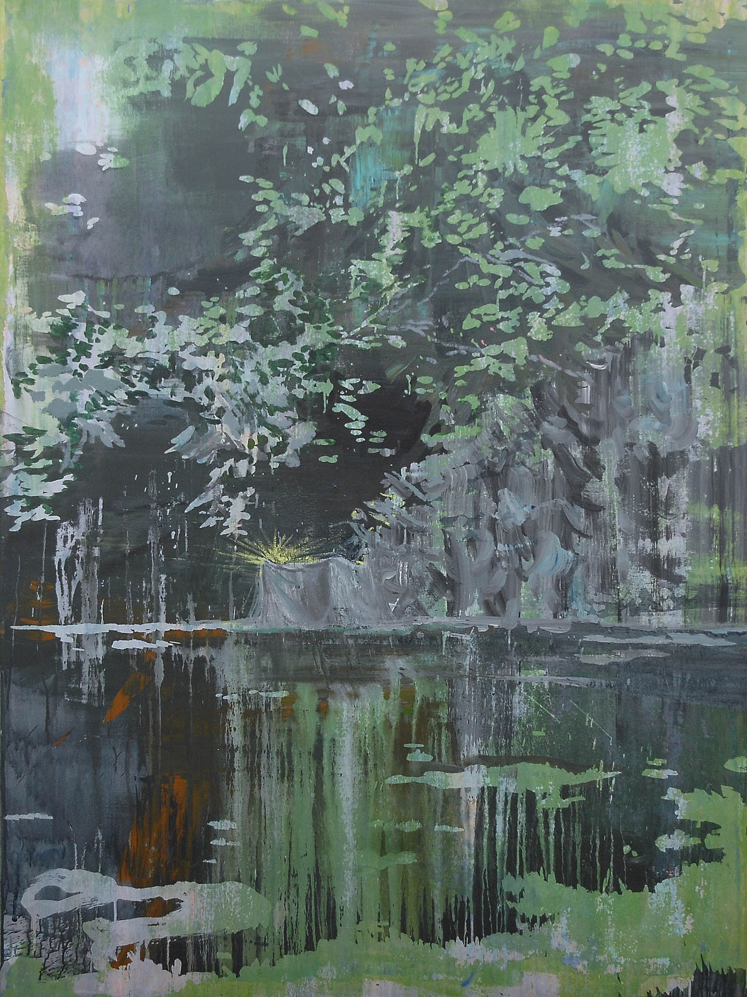 Lu Song 吕松, Home for the Homelss, 2015, Oil on canvas 布面油画, 200 x 150 cm
