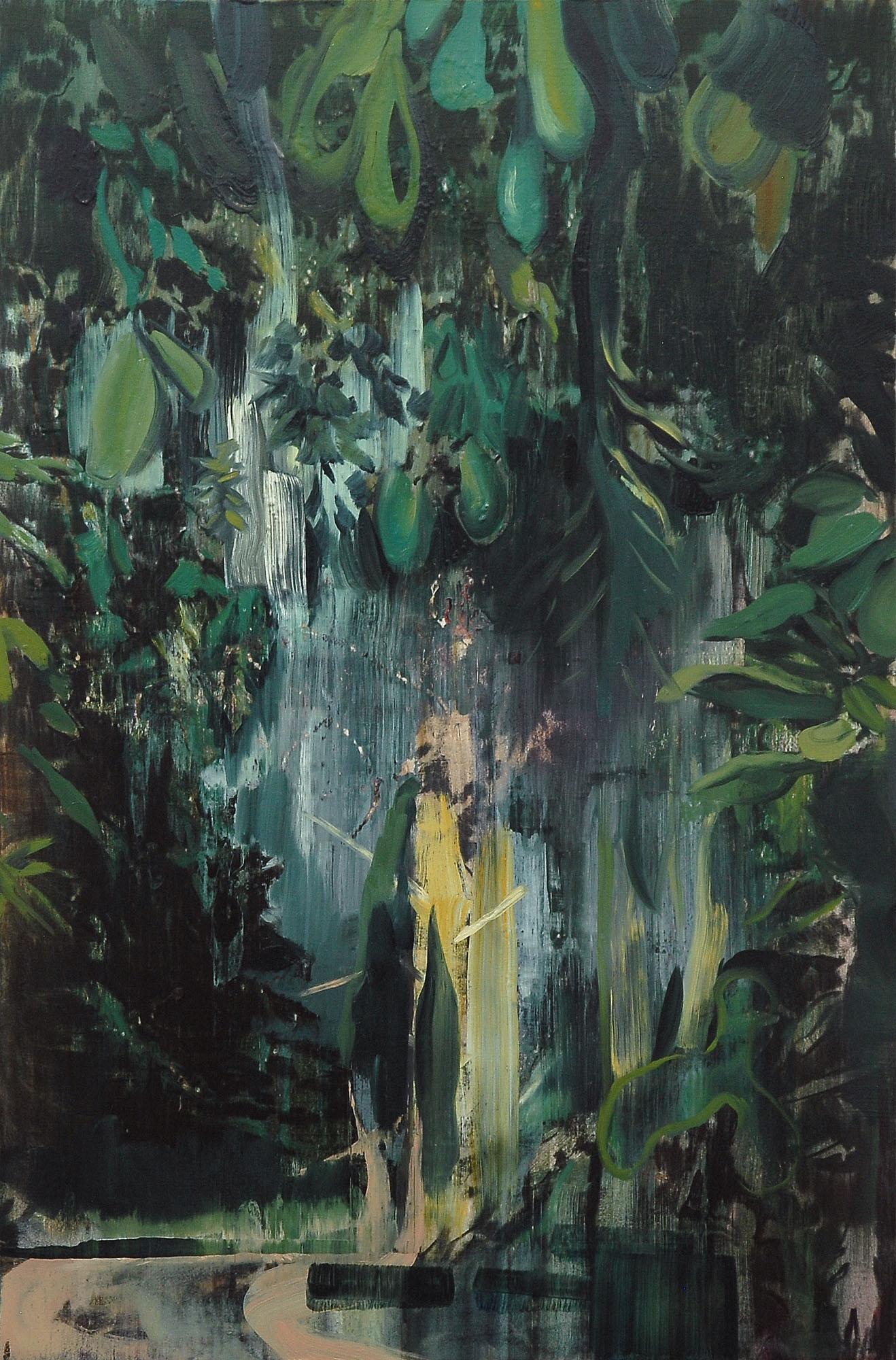 Lu Song 吕松, Through the Woods, 2015, Oil on canvas 布面油画, 120 x 80 cm
