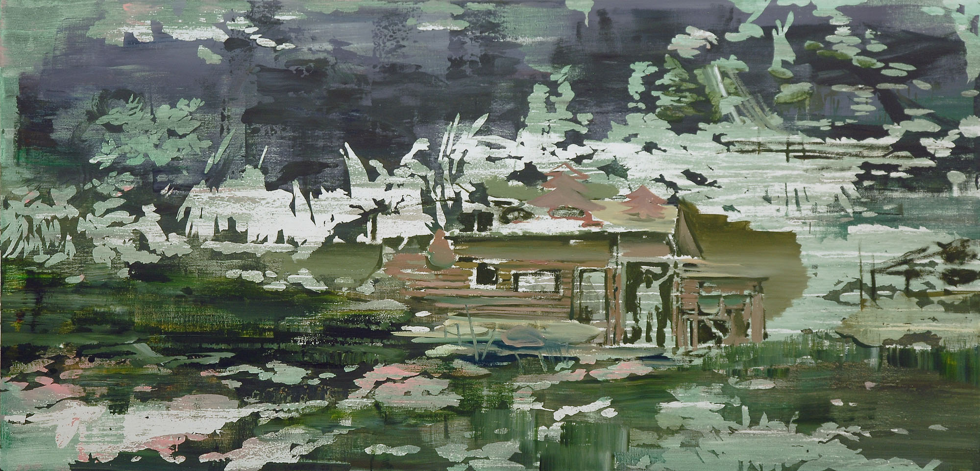 Lu Song 吕松, Young Adam, 2015, Oil on canvas 布面油画, 100 x 205 cm