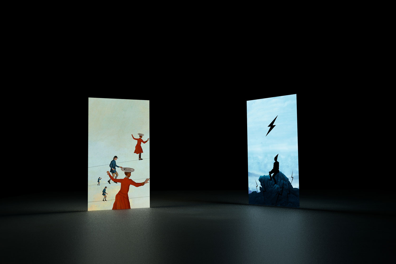 Wu Junyong 吴俊勇, Portrait of Light 光的肖像, 2013, Two channels video 双频动画装置