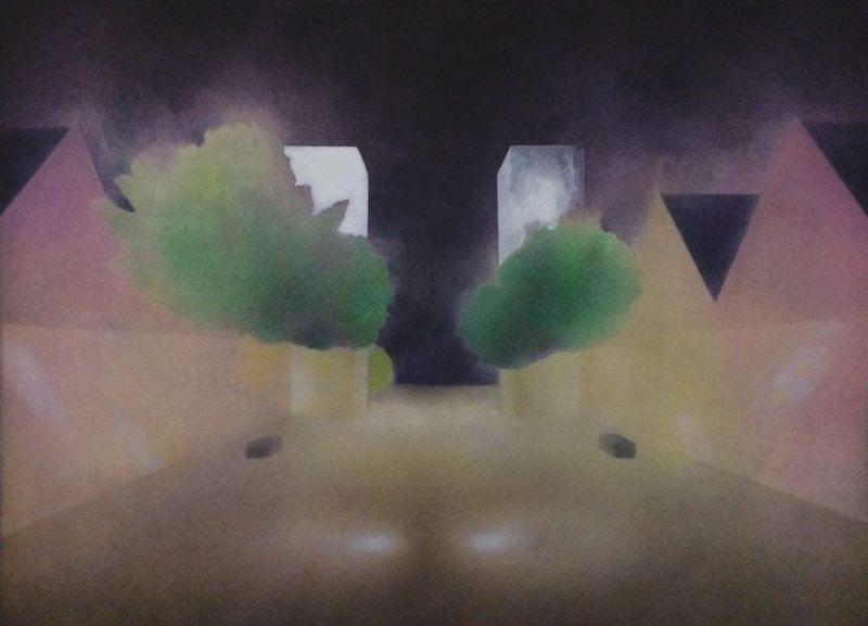 Liu Liu 刘流, Light, Air and Emotion 光、空气与情感, 2017, Watercolor on paper 纸上水彩, 23 x 31 cm