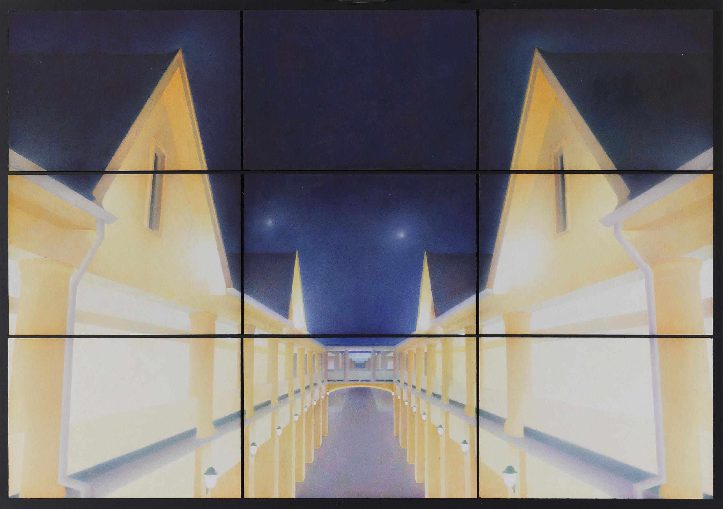 Liu Liu 刘流, Light, Air and Emotion 光、空气与情感, 2017, Watercolor on paper 纸上水彩, 54 x 78 cm