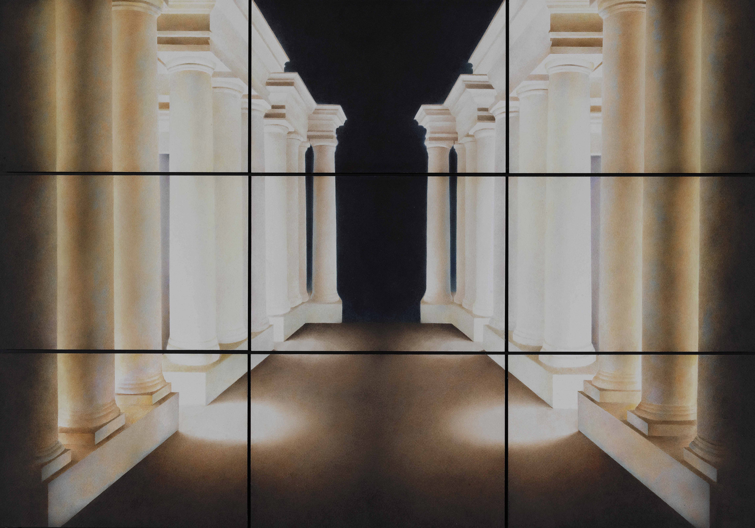 Liu Liu 刘流, Light, Air and Emotion 光、空气与情感, 2018, Watercolor on paper 纸上水彩, 54 x 78 cm