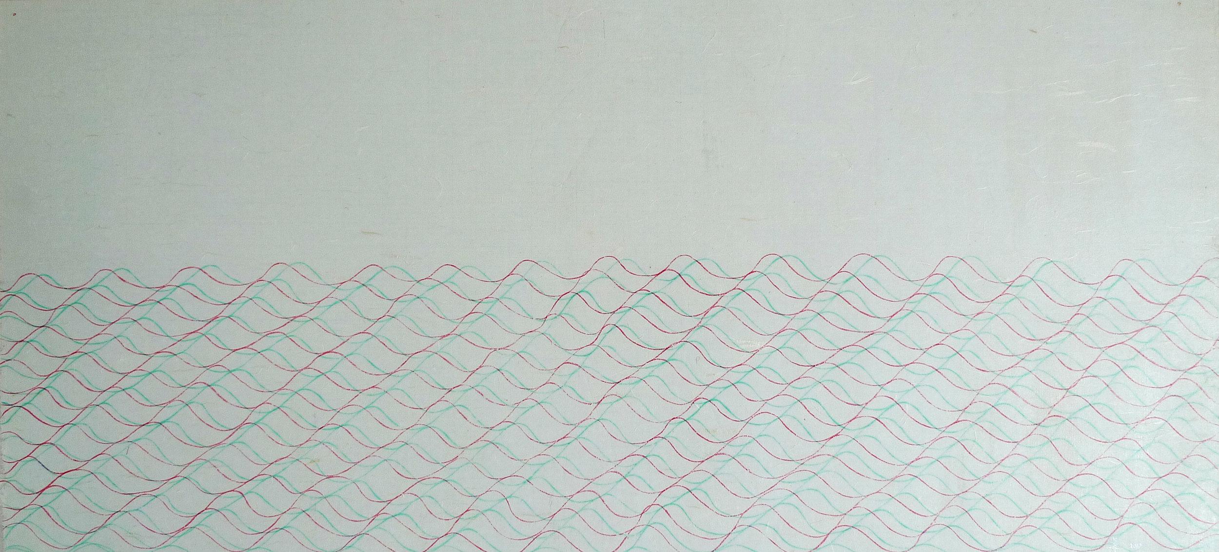 Zhou Jianjun 周建军, Untitled 无题, 2013, Ink on paper 纸本水墨设色, 45 x 97 cm