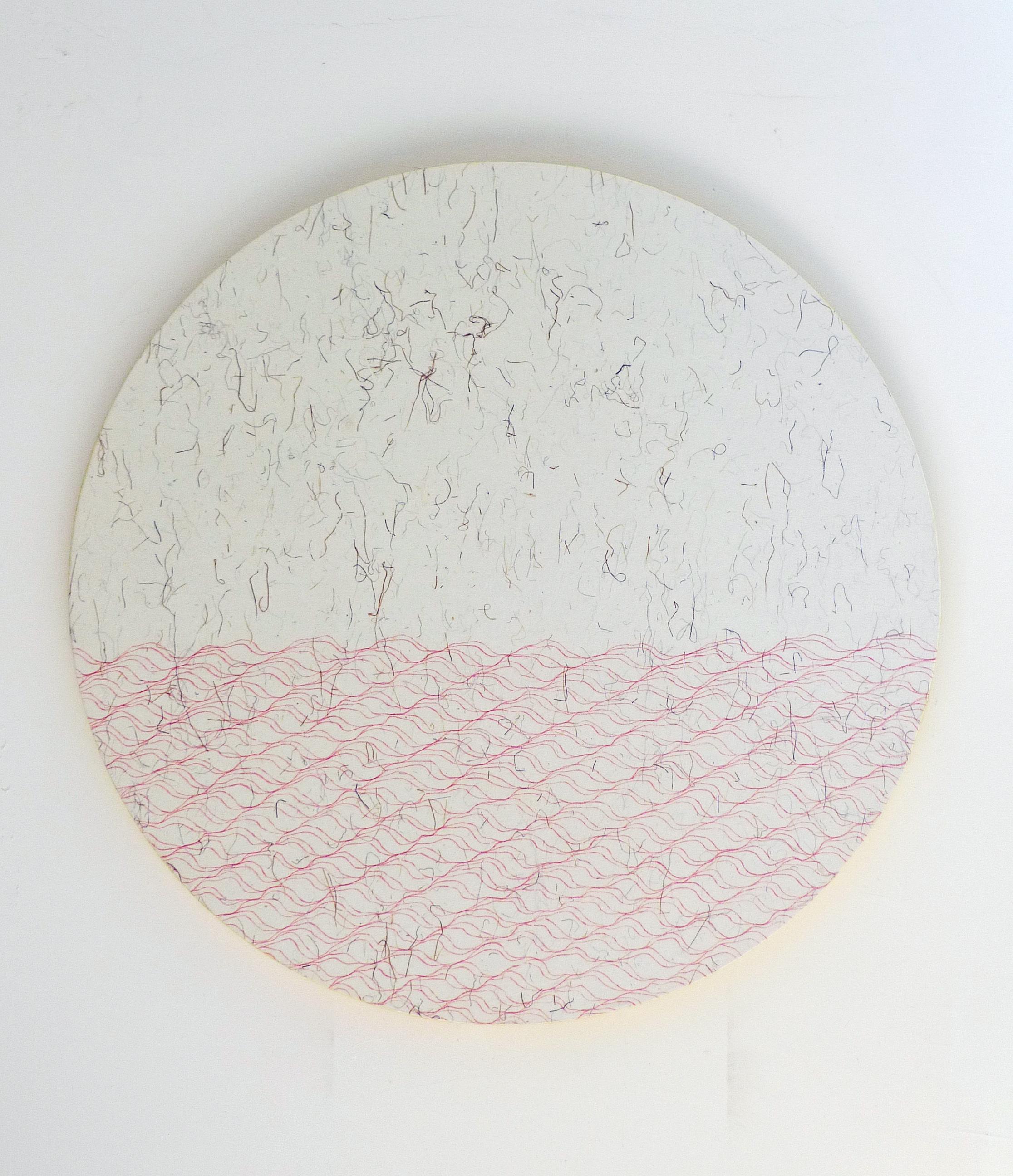 Zhou Jianjun 周建军, Untitled 无题, 2012, Ink on paper 纸本水墨设色, Dia 66.5 cm