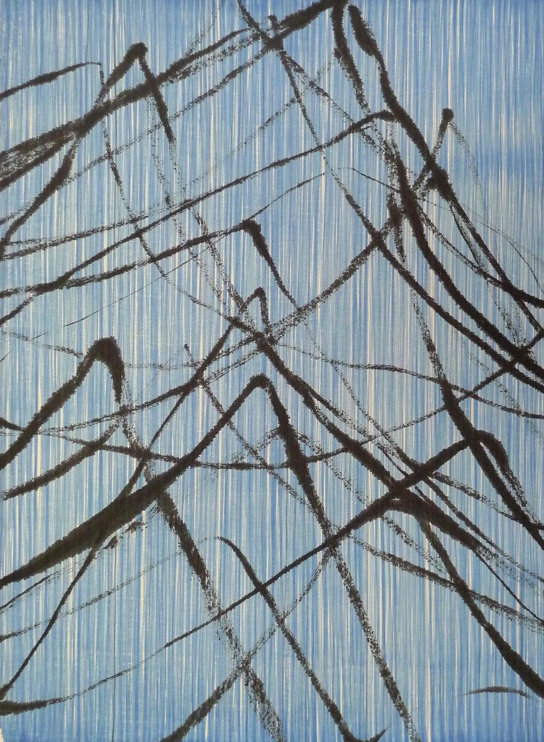 Zhou Jianjun 周建军, Untitled 无题, 2016, Ink and acrylic on paper 纸本水墨丙烯, 145 x 105 cm