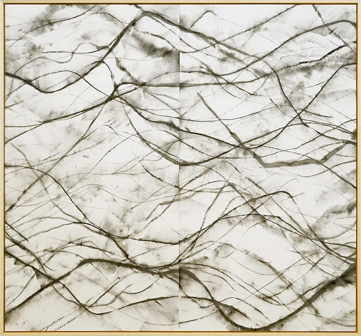 Zhou Jianjun 周建军, Untitled 无题, 2015, Ink on paper 纸本水墨设色, 184 x 197 cm