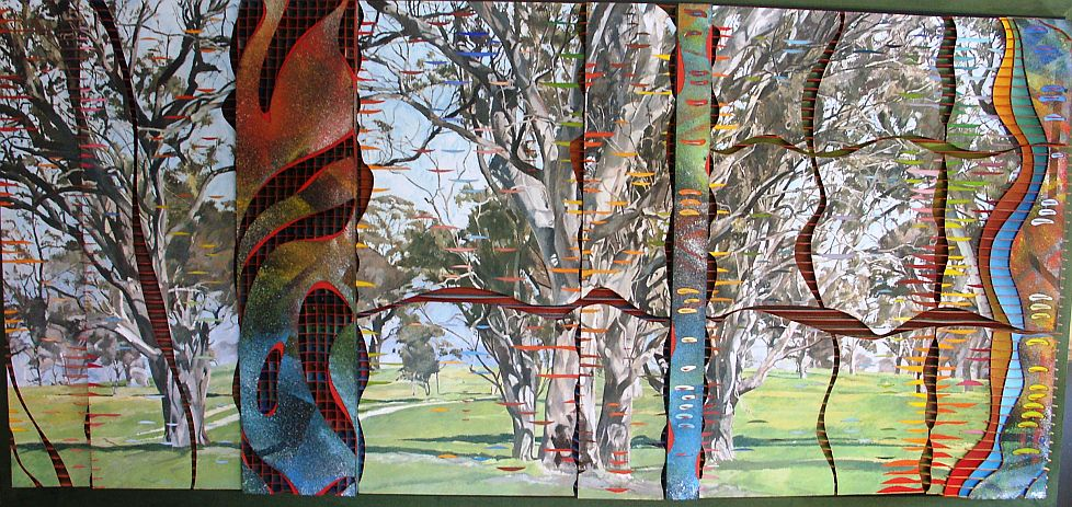 Michael Winters - Landscape With Incisions & the Space Beyond (2.3 m x 1.3 m).