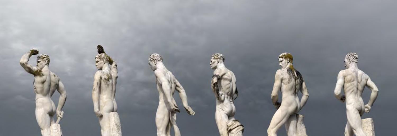 La città di marmo,  Roma, Fori imperiali, 2010 C-print on diasec+dibond cm 250 x 90