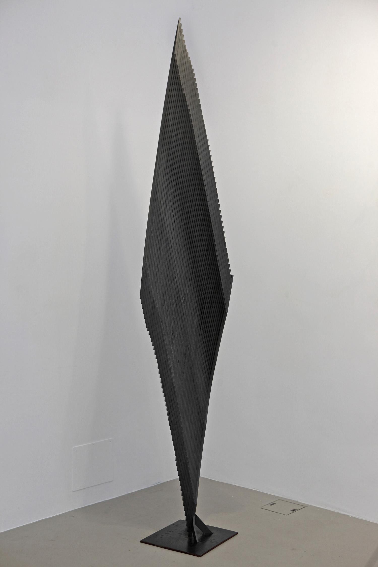 Senza titolo , 2005 legno, ferro, smalto cm. 300x40x53