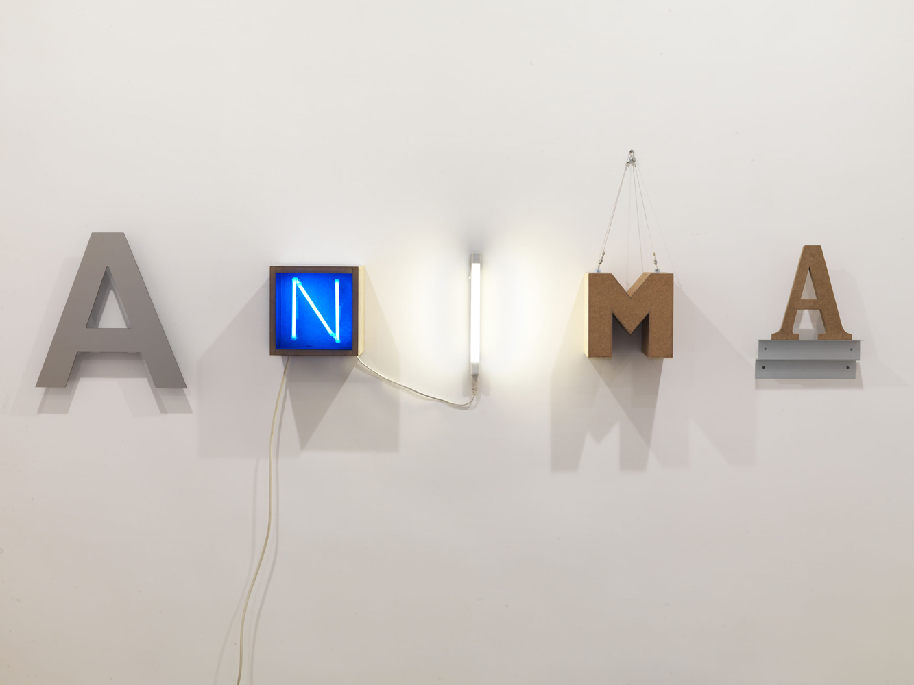 Anima  , 2011   tecnica mista   cm. 40x172x20