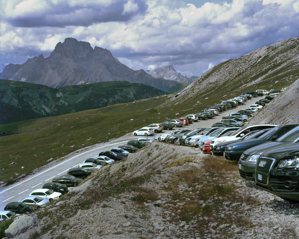 Parcheggio, Tre cime di Lavaredo, Auronzo di Cadore, 2010  C-print on diasec,  cm 170 x 200 (ed. 1/3)