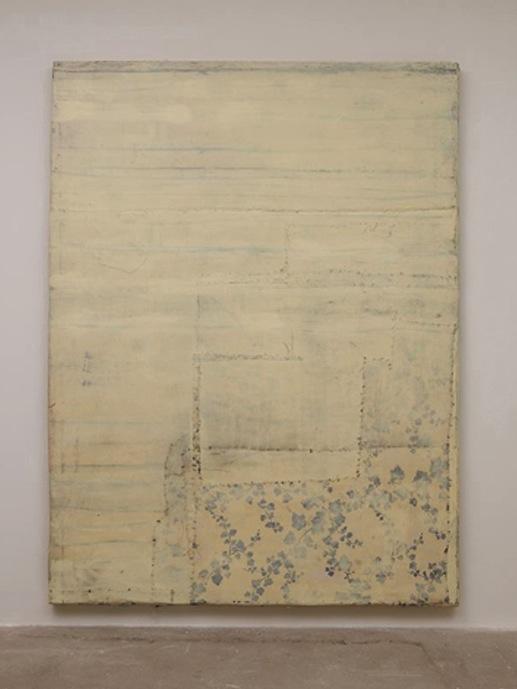 Untitled, 2008  Olio, cera, tela su legno / oil, wax, canvas on wood cm 212 x 159 x 6